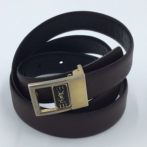 Yves Saint Laurent Reversible Belt Size 34
